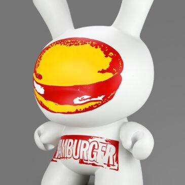 """Kidrobot x Andy Warhol """"Hamburger"""" 20-inch Dunny Drops Today"""
