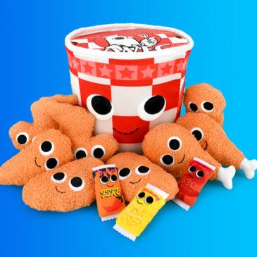 Mmmm – Order up the Yummy World Bertha Bucket of Fried Chicken Interactive Plush!