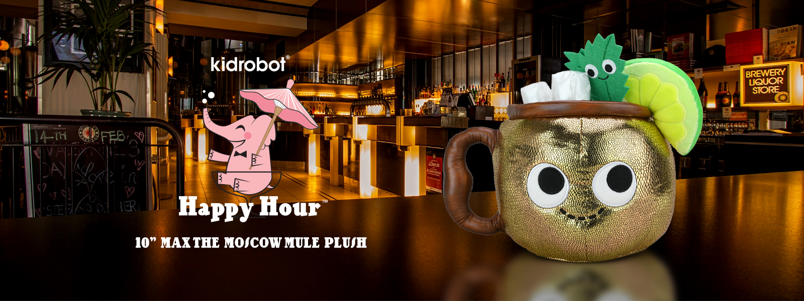 Happy Hour Moscow Mule Plush by Kidrobot